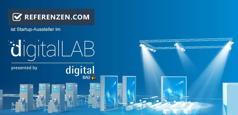 referenzen.com ist Aussteller auf der digitalBAU, der Fachmesse für digitale Lösungen in der Baubranche Bild
