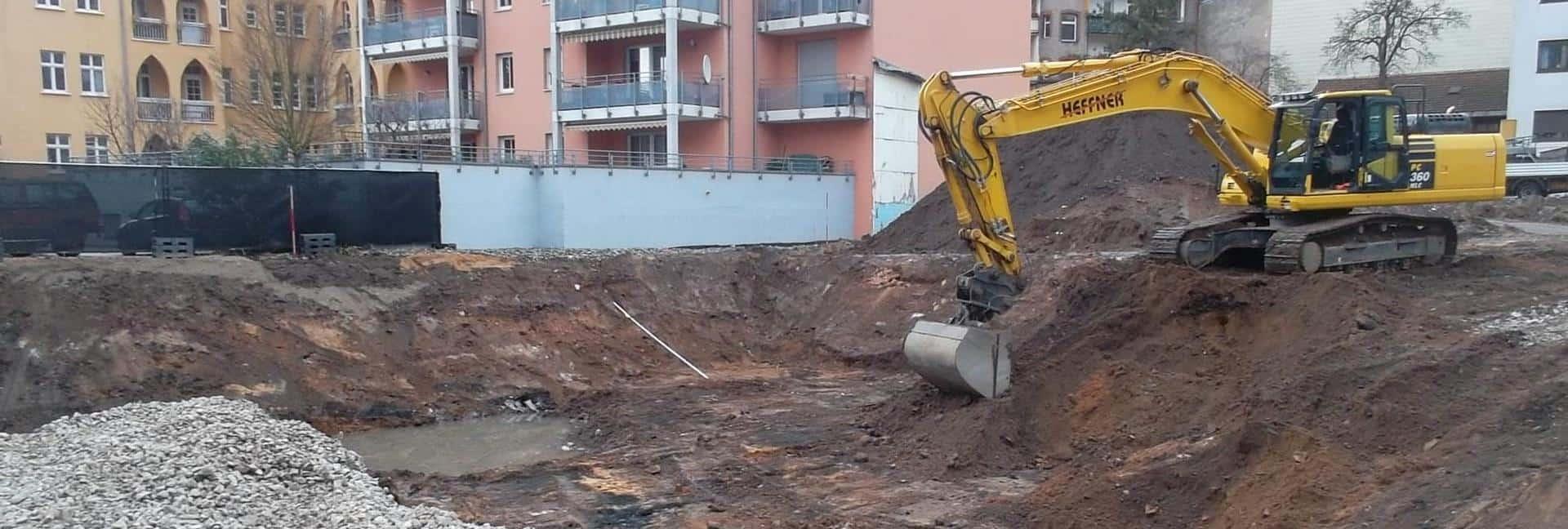 Badstraße Fürth - Fachgutachterliche Begleitung Erdarbeiten