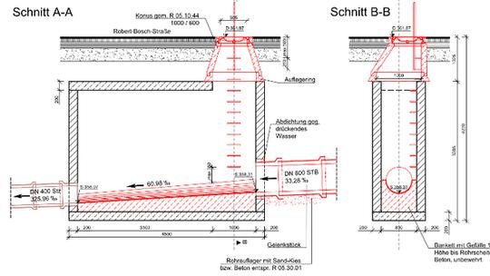 Erneuerung der Kanalisation in Stuttgart, Robert-Bosch-Straße Vorschau-Bild