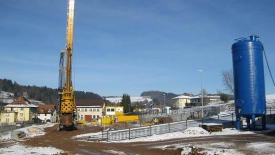 Elzach, Flächenrecycling, Altlastensanierung ehem. Elza-Werk - Tiefdrainage durch Austauschbohrungen, Grundwasserreinigungsanlage Vorschau-Bild