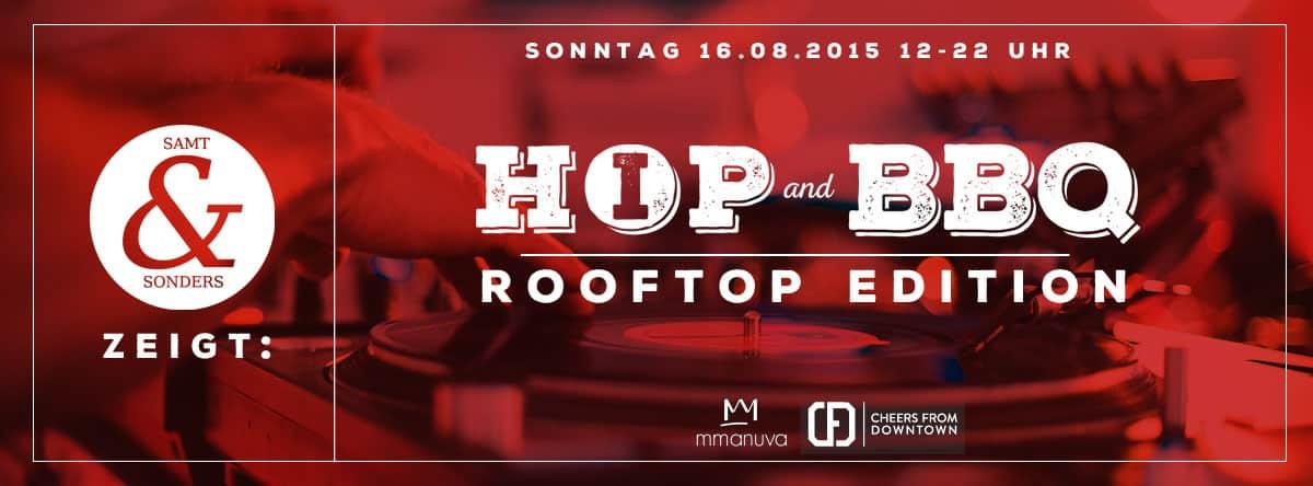 DIE KÜCHE IM KRAFTWERK Veranstaltungsort und Catering für Hip Hop & BBQ Rooftop Edition, Samt&Sonders