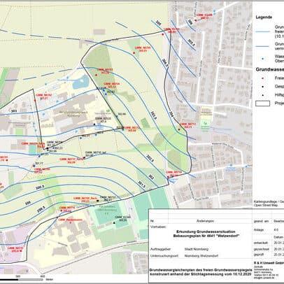Historische Erkundung, orientierende Untersuchung und Erkundung der Grundwassersituation für ein neues Stadtquartier in Nürnberg