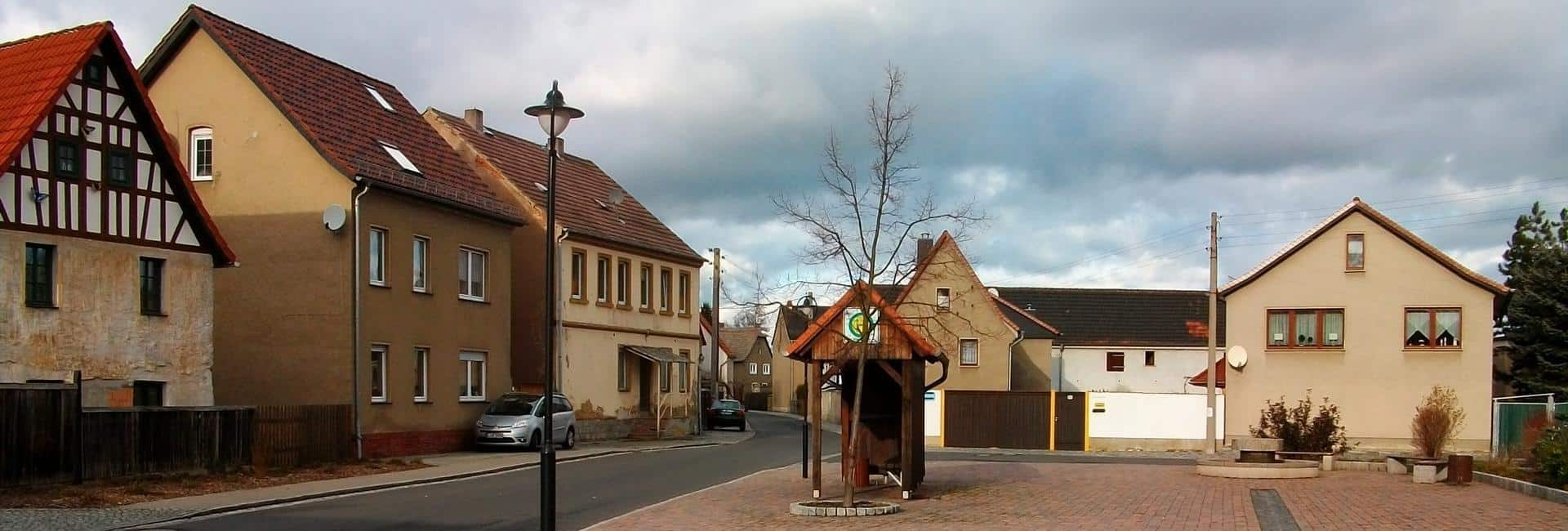 Dorfplatz Elstertrebnitz