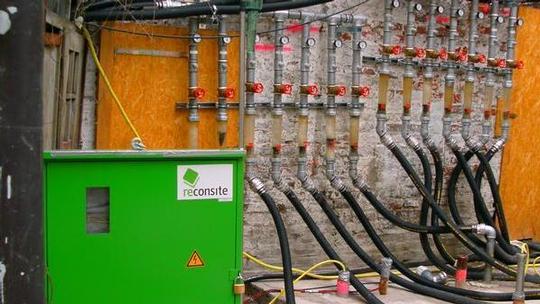 Kostenersparnis durch thermische in-situ Sanierung unter Gebäuden Vorschau-Bild