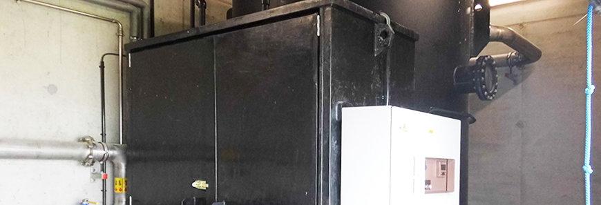 UGN®-BEKOM H 4.0 zum Abbau von Schwefelwasserstoff aus dem Klärgas einer Abwasserbehandlung