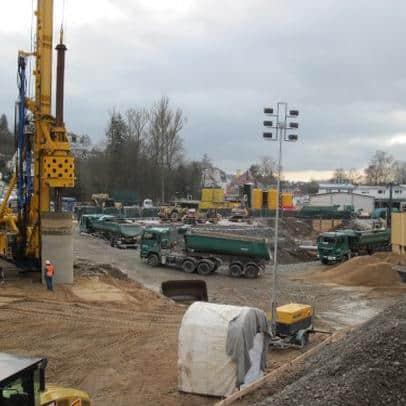 Transportlogistik für Bauer Umwelt GmbH - Sanierung Sattler Altlast Schonungen